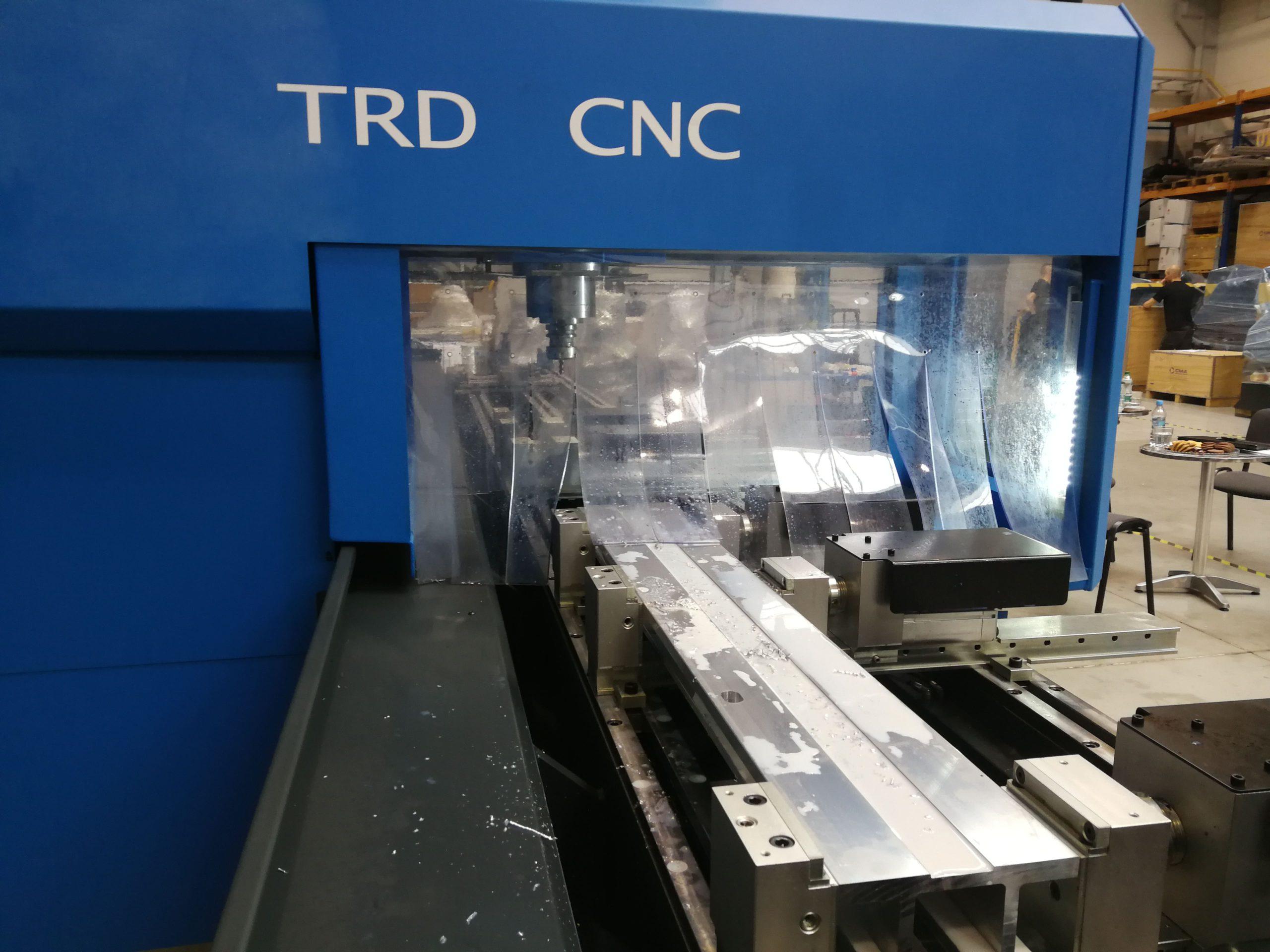 Obróbka aluminium na wiertarce CNC CMA TRD